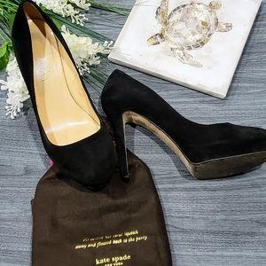 Kate Spade Black Suede Pumps/Stiletto